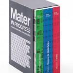Libro en tres volúmenes del proyecto Mater in progress (2008), que fue el germen del Centro de Materiales del fad.